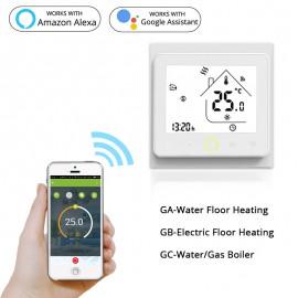 érintő kijelzős termosztát